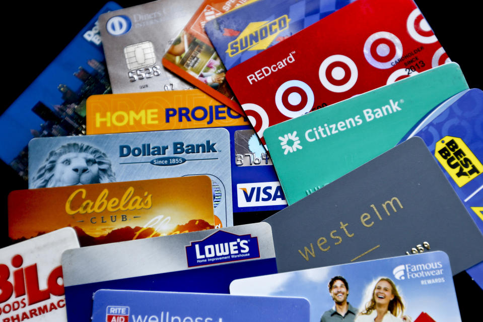 Unused store gift cards add up to an estimated $20 billion, according to a 2020 Bankrate survey. (AP Photo/Keith Srakocic, File)