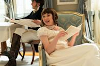 <p>Eloise is Daphne and Anthony's younger sister, who feels suffocated by the limiting expectations placed on her by Regency society. Same, girl. She's played by Jessie, who you may recognize from <em>Vanity Fair</em>, <em>Lovesick</em>, or <em>Doctor Who</em>, among her decade's worth of TV credits. </p>