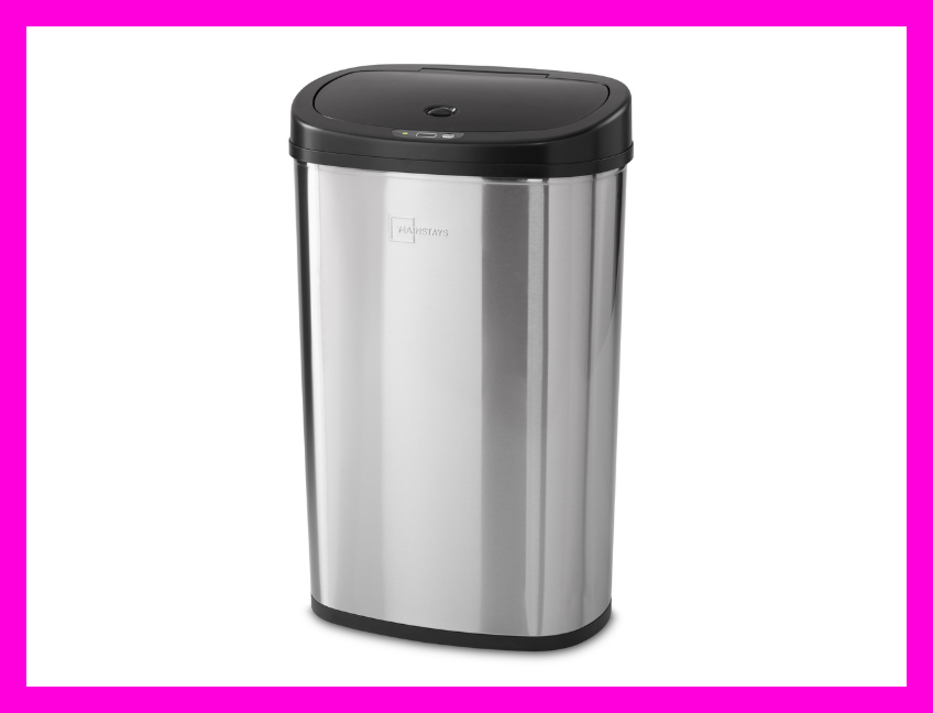 Save $13 on this Mainstays Motion Sensor Trash Can. (Photo: Walmart)