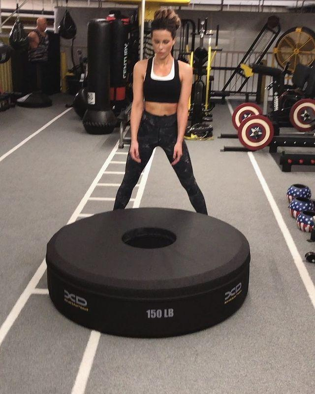 "<p>Kate shared a super impressive video on Instagram in 2019 of herself flipping a tire at the gym. In the video, Kate flips a tire that's 150 pounds (not a typo), making it look like nothing. 'Avail for farm work,' she joked in the caption.</p><p><strong>RELATED: </strong>This <a href=""https://www.womenshealthmag.com/uk/fitness/strength-training/a706202/strength-training-for-beginners/"" rel=""nofollow noopener"" target=""_blank"" data-ylk=""slk:strength training for beginners"" class=""link rapid-noclick-resp"">strength training for beginners</a> is a great place to start your journey to Kate-level strength</p><p><a href=""https://www.instagram.com/p/BxTHsUJn1JM/"" rel=""nofollow noopener"" target=""_blank"" data-ylk=""slk:See the original post on Instagram"" class=""link rapid-noclick-resp"">See the original post on Instagram</a></p>"