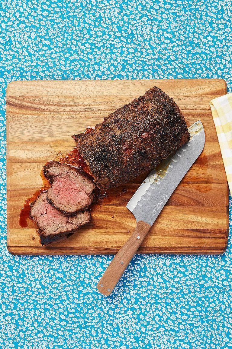 "<p>Roast tenderloin is gorgeous and special enough to serve as the main course for any holiday meal. Ree calls it ""heaven on a fork.""</p><p><strong><a href=""https://www.thepioneerwoman.com/food-cooking/recipes/a9878/roasted-beef-tenderloin-recipe/"" rel=""nofollow noopener"" target=""_blank"" data-ylk=""slk:Get the recipe"" class=""link rapid-noclick-resp"">Get the recipe</a>.</strong></p><p><strong><a class=""link rapid-noclick-resp"" href=""https://go.redirectingat.com?id=74968X1596630&url=https%3A%2F%2Fwww.walmart.com%2Fsearch%2F%3Fquery%3Droasting%2Bpans&sref=https%3A%2F%2Fwww.thepioneerwoman.com%2Ffood-cooking%2Fmeals-menus%2Fg35589850%2Fmothers-day-dinner-ideas%2F"" rel=""nofollow noopener"" target=""_blank"" data-ylk=""slk:SHOP ROASTING PANS"">SHOP ROASTING PANS</a></strong></p>"