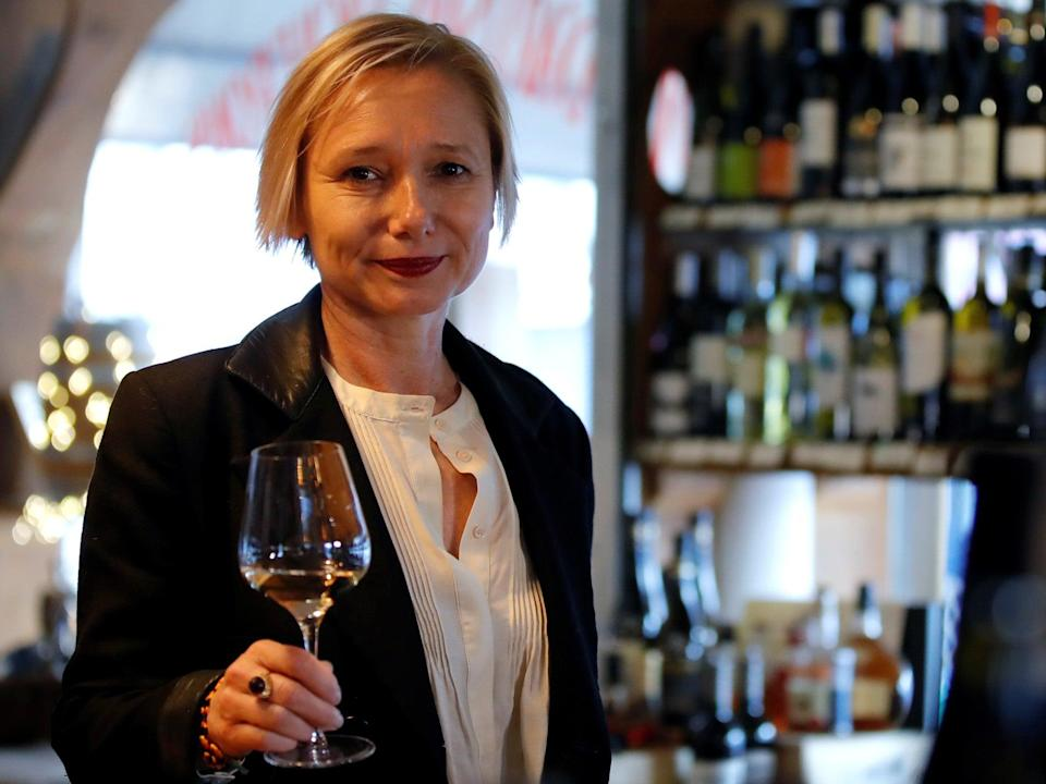 <p>On the nose: French oenologist Sophie Pallas lost her sense of taste and smell after been infected with the coronavirus</p> (Reuters)