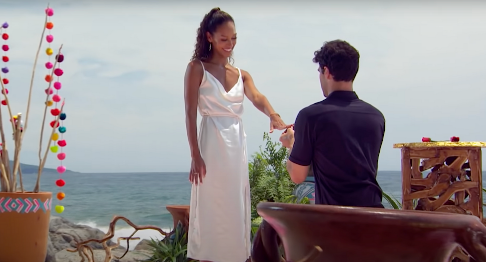 Bachelor in Paradise couple Joe Amabile and Serena Pitt got engaged in Tuesday night's three-hour season finale