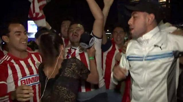 Reporter Attacks Groping Soccer Fan With Her Mic