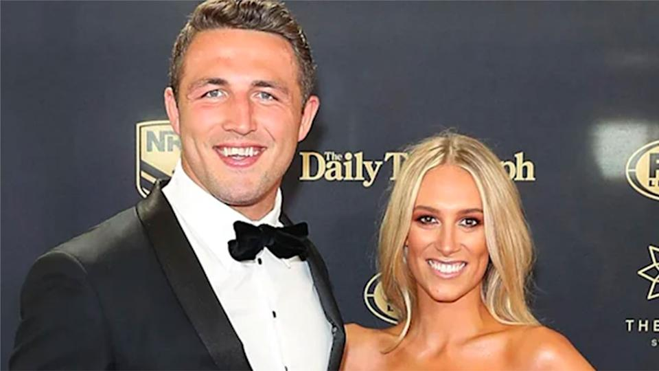 Seen here, Sam and Phoebe Burgess at the 2017 Dally M awards night.