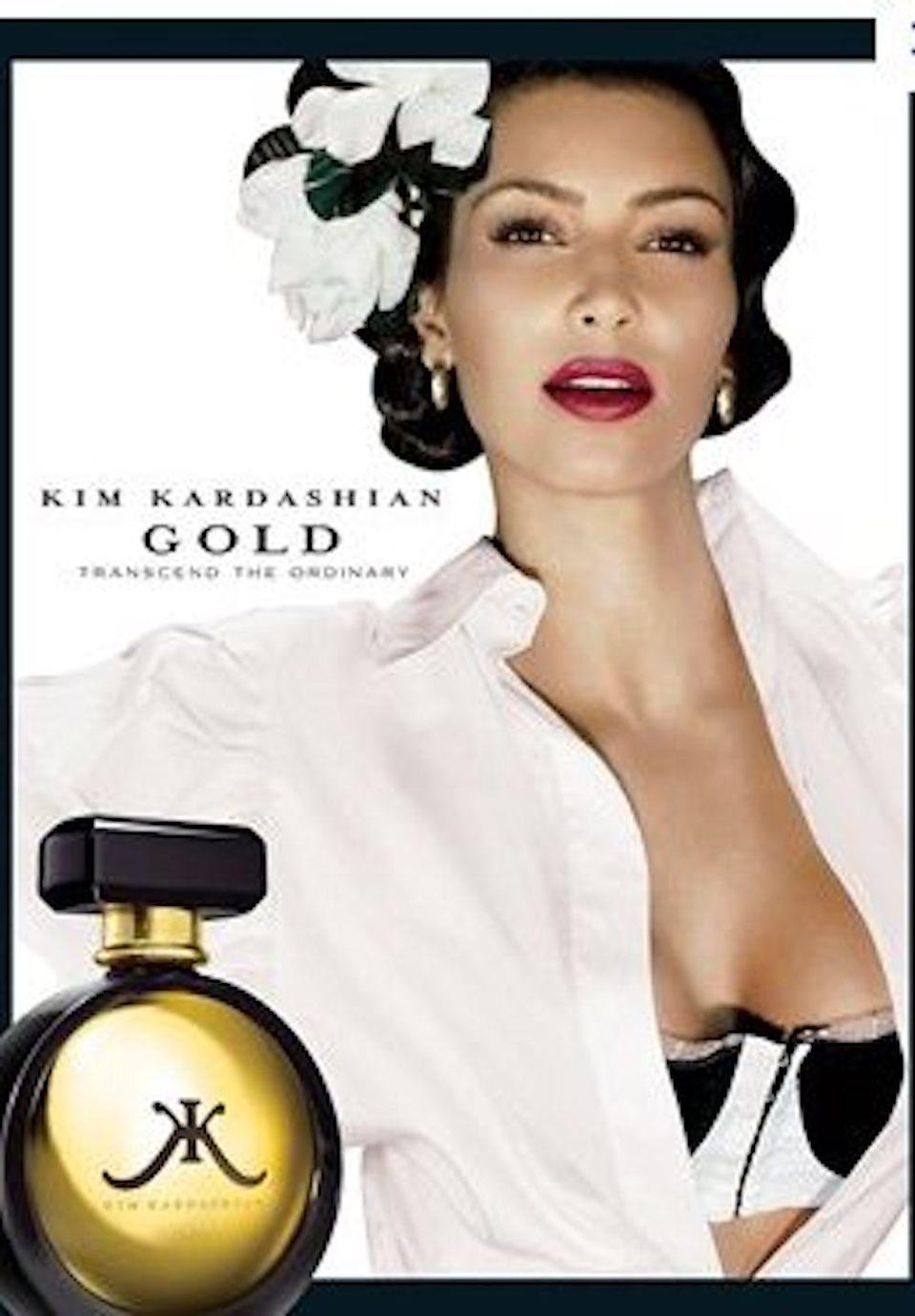 <p>Sorry, not done with Kim's Gold perfume campaign yet! </p>