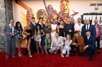 """Cast and crew including Nathan Fillion, Storm Reid, Margot Robbie, John Cena, James Gunn, Michael Rooker, Jai Courtney, and Daniela Melchior attends the Warner Bros. premiere of """"The Suicide Squad"""" at Regency Village Theatre on August 02, 2021"""