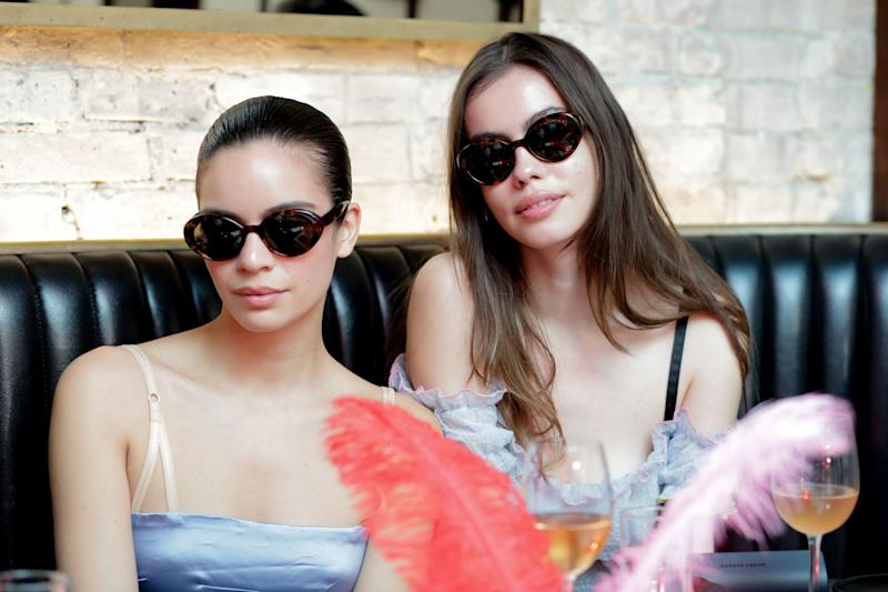 Coco Baudelle and Madeleine Marie Angus with their Sandy Liang x Warby Parker shades