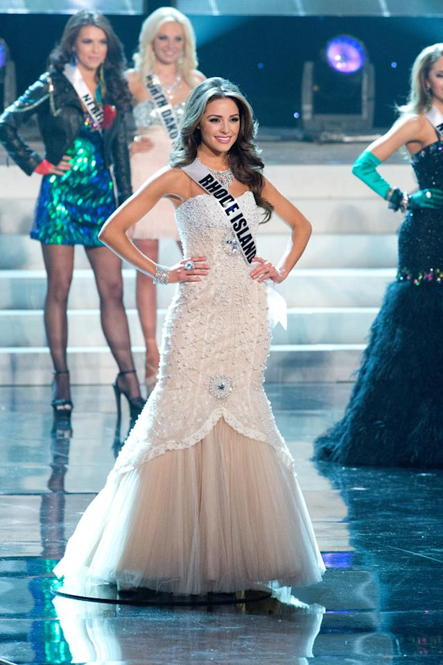 Miss Rhode Island USA 2012, Olivia Culpo from Cranston, is a top 16 semifinalist vying for the title of Miss USA 2012 and the Diamond Nexus Labs crown, during the 2012 MISS USA Competition from the Planet Hollywood Resort & Casino Theatre for the Performing Arts, in Las Vegas, Nevada on Sunday, June 3, 2012.