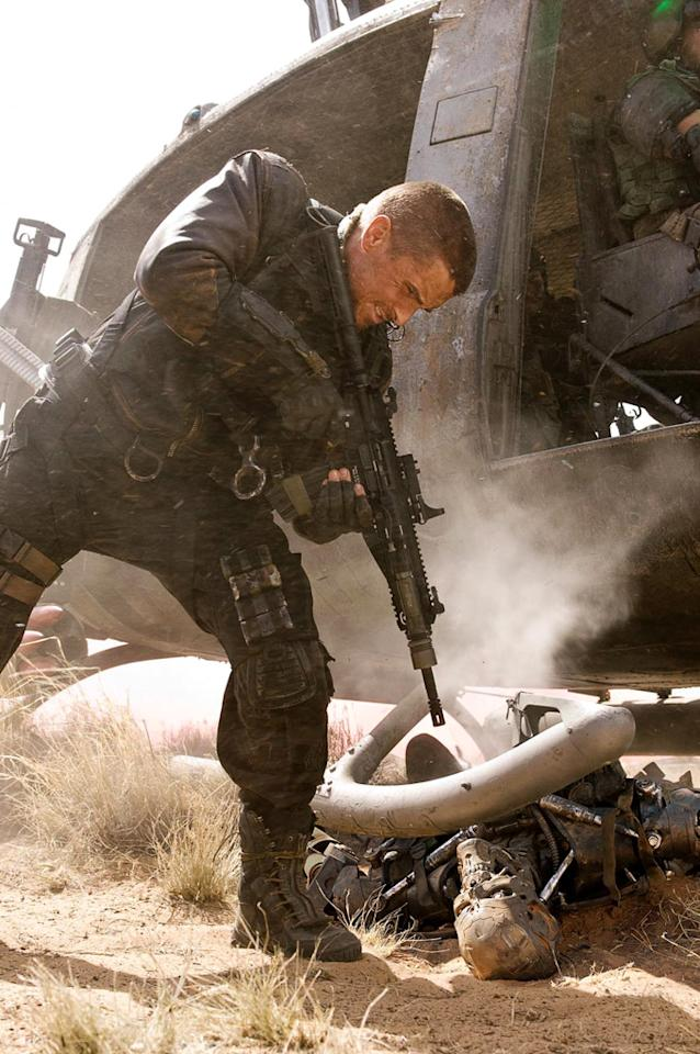 """<a href=""""http://movies.yahoo.com/movie/contributor/1800018597"""">Christian Bale</a> as John Connor in Warner Bros. Pictures' <a href=""""http://movies.yahoo.com/movie/1810025211/info"""">Terminator Salvation</a> - 2009"""