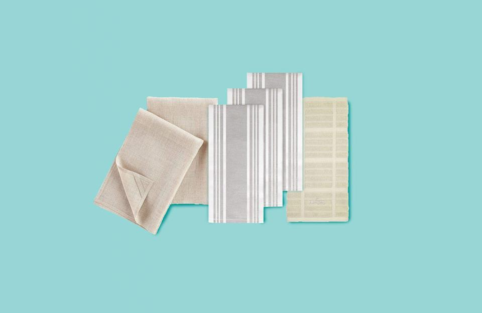 """<p>Kitchen towels come in handy for drying hands and dishes, wiping counters, soaking up spills and more. They may be one of the most-used items in the kitchen so the last thing you want are kitchen towels that don't work well for the job at hand. </p><p>That's where the <a href=""""https://www.goodhousekeeping.com/institute/about-the-institute/a19748212/good-housekeeping-institute-product-reviews/"""" rel=""""nofollow noopener"""" target=""""_blank"""" data-ylk=""""slk:Good Housekeeping Institute Kitchen Appliances and Textiles Labs"""" class=""""link rapid-noclick-resp"""">Good Housekeeping Institute Kitchen Appliances and Textiles Labs</a> come in. Both of these Labs test hundreds of <a href=""""https://www.goodhousekeeping.com/cooking-tools/g28563931/cool-kitchen-gadgets/"""" rel=""""nofollow noopener"""" target=""""_blank"""" data-ylk=""""slk:kitchen gadgets"""" class=""""link rapid-noclick-resp"""">kitchen gadgets</a> and textiles to find the best products. Our kitchen pros use dish towels to clean up after testing a variety of kitchen products like <a href=""""https://www.goodhousekeeping.com/cooking-tools/g35994129/best-grill-pans/"""" rel=""""nofollow noopener"""" target=""""_blank"""" data-ylk=""""slk:grill pans"""" class=""""link rapid-noclick-resp"""">grill pans</a>, <a href=""""https://www.goodhousekeeping.com/cooking-tools/food-storage-container-reviews/g2215/food-storage-containers/"""" rel=""""nofollow noopener"""" target=""""_blank"""" data-ylk=""""slk:food storage containers"""" class=""""link rapid-noclick-resp"""">food storage containers</a>, <a href=""""https://www.goodhousekeeping.com/cooking-tools/cookware-reviews/a18553/best-dutch-ovens/"""" rel=""""nofollow noopener"""" target=""""_blank"""" data-ylk=""""slk:dutch ovens"""" class=""""link rapid-noclick-resp"""">dutch ovens</a> and more. In the Textiles Lab, our fiber scientists put all kinds of towels through rigorous testing, from <a href=""""https://www.goodhousekeeping.com/home-products/towel-reviews/g5037/best-bath-towel-reviews/"""" rel=""""nofollow noopener"""" target=""""_blank"""" data-ylk=""""slk:bath towels"""" class=""""link rapid-noclick-resp"""">bath towe"""