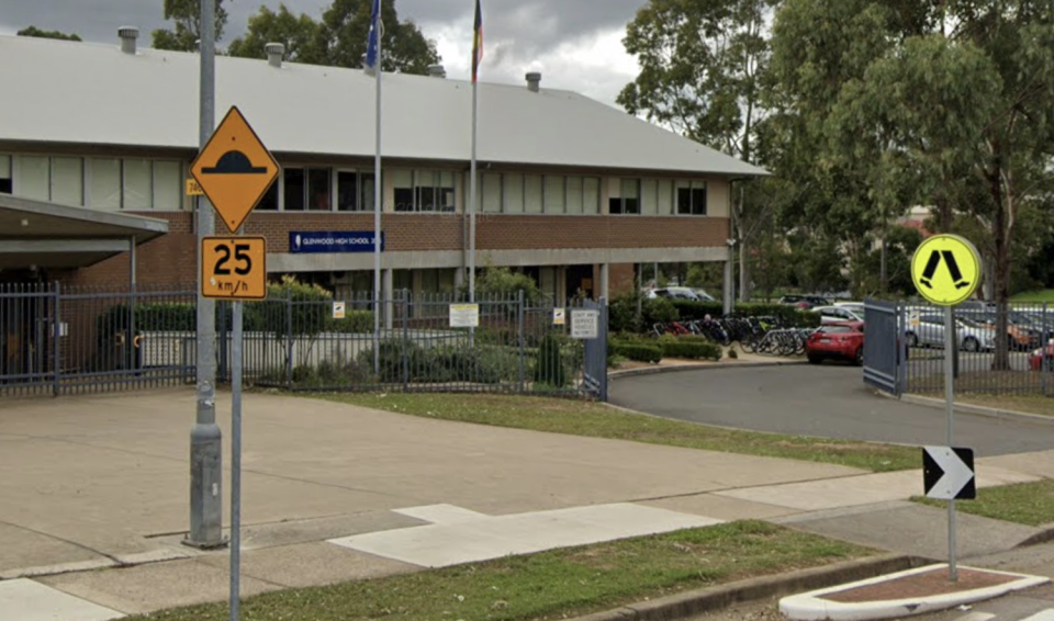 The letter was sent to parents after a student was stabbed at Glenwood High School in Sydney earlier this month. Source: Google Maps