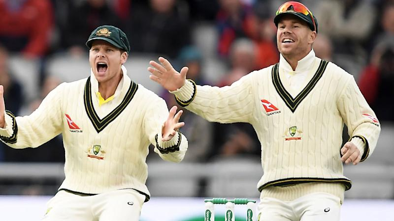 Steve Smith and David Warner, pictured here during the fifth Ashes Test.