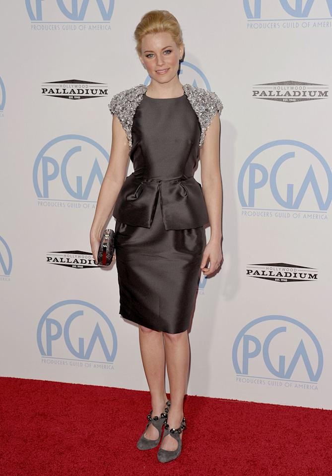 "<a href=""http://movies.yahoo.com/movie/contributor/1807816351"">Elizabeth Banks</a> at the 21st Annual Producers Guild Awards in Hollywood, California - 01/24/2010"