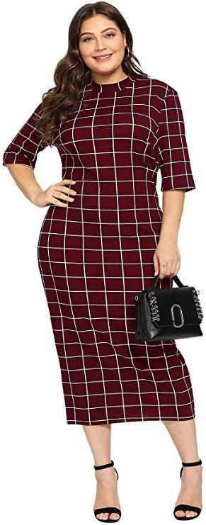 """<h2>Floerns Women's Short Sleeve Plus-Size Bodycon Pencil Dress</h2><br>The perfect work-to-drinks dress <em>does</em> exist and it only costs $17.99 on Amazon. It has a simple silhouette and design but still makes a big impact. <br><br><em>Shop<strong><a href=""""https://amzn.to/2nzXHcP"""" rel=""""nofollow noopener"""" target=""""_blank"""" data-ylk=""""slk:Amazon"""" class=""""link rapid-noclick-resp""""> Amazon</a></strong></em><br><br><br><strong>Floerns</strong> Floerns Women's Short Sleeve Plus Size Gingham Bodycon Business Pencil Dress, $, available at <a href=""""https://amzn.to/2nzXHcP"""" rel=""""nofollow noopener"""" target=""""_blank"""" data-ylk=""""slk:Amazon"""" class=""""link rapid-noclick-resp"""">Amazon</a>"""