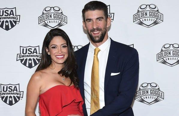Michael and Nicole Phelps welcome their third son, Maverick Nicolas, on Sept. 9.