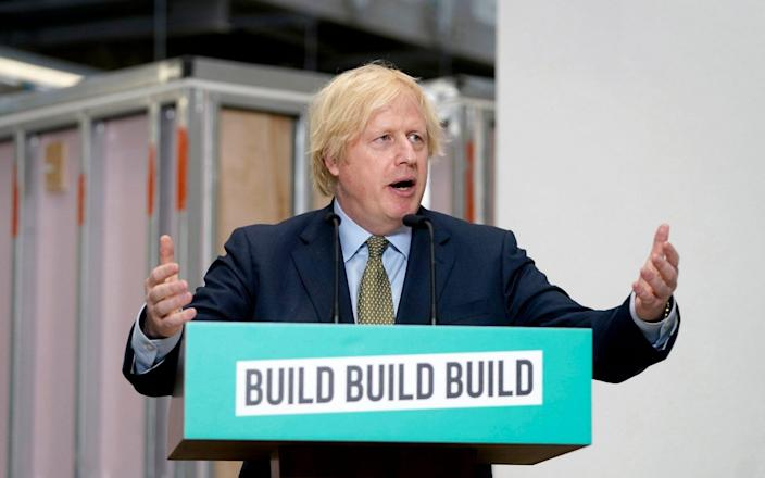Boris Johnson has called for Britain to make the world's first zero emissions plane - ANDREW PARSONS/EPA-EFE/Shutterstock