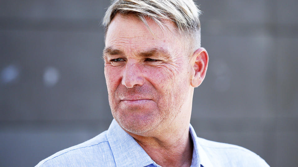 Shane Warne, pictured here during a Cricket Australia media opportunity at the MCG.