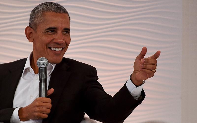Former US president Barack Obama warned leaders and high-profile figures to think before tweeting (AFP Photo/MONEY SHARMA)