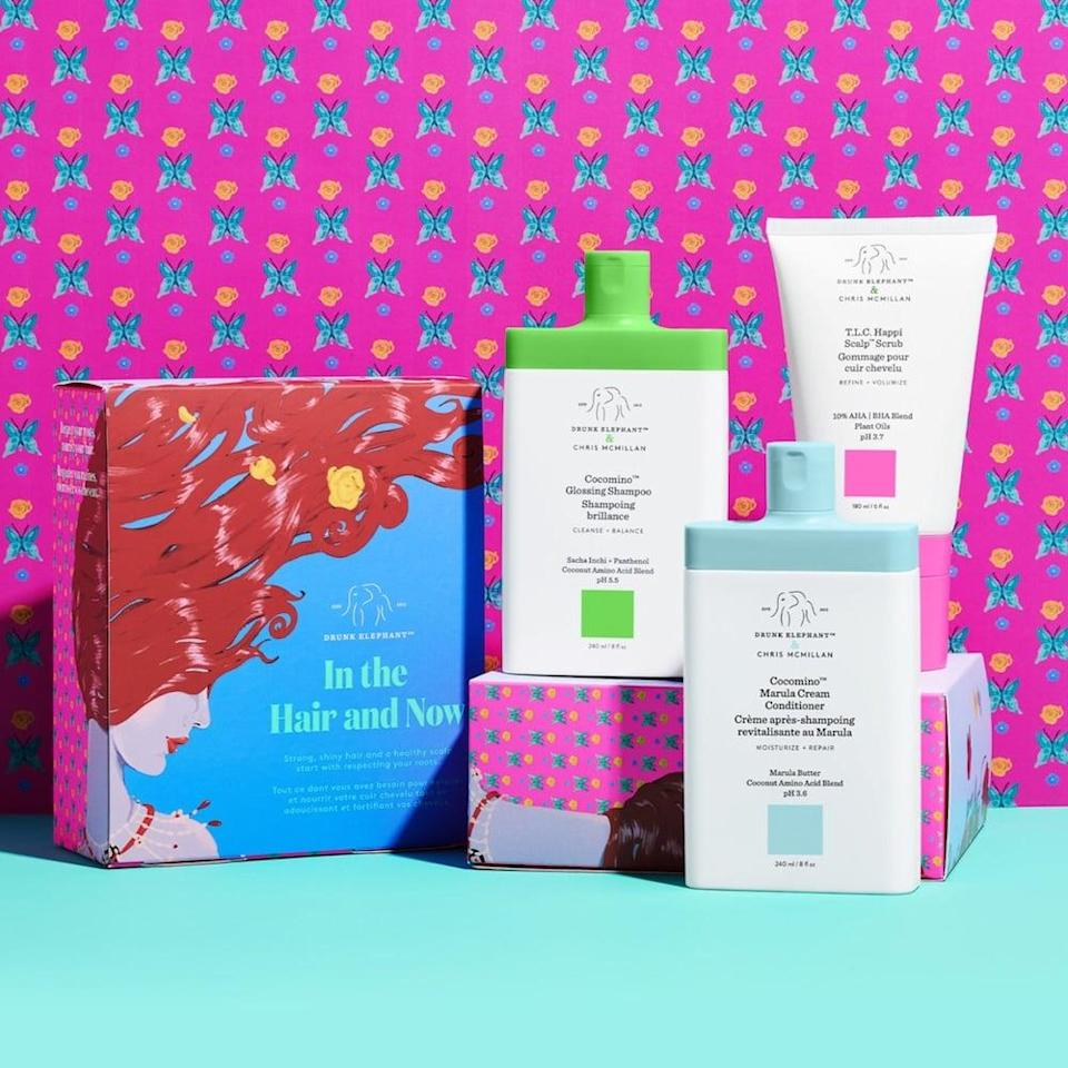 <p>If you love Drunk Elephant skin care, now's the time to try the brand's hair care! This <span>Drunk Elephant In The Hair and Now Value Set</span> ($60) makes for a fun gift.</p>