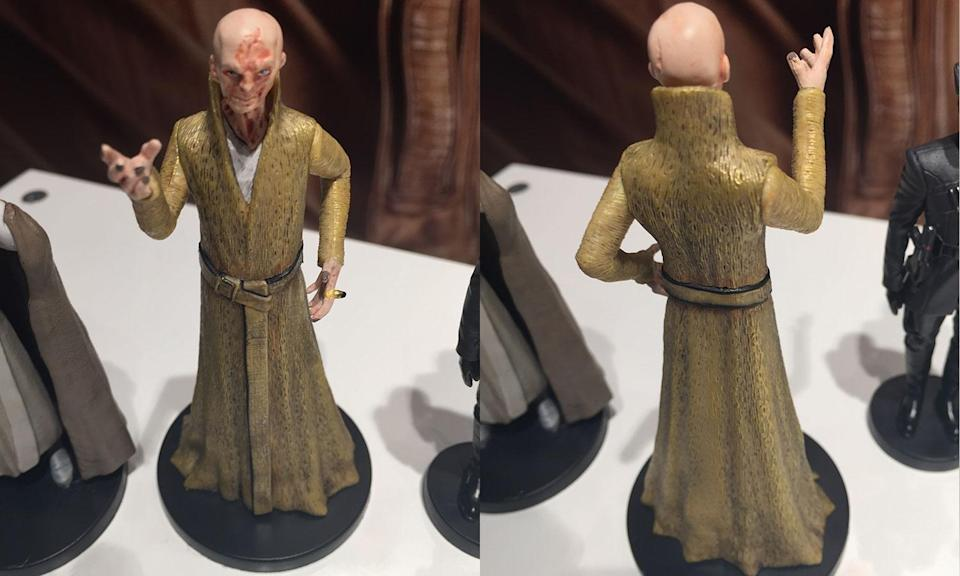 <p>A closer look at Supreme Leader Snoke's mini die-cast figurine available at the Disney Store (Yahoo Movies UK/Disney) </p>