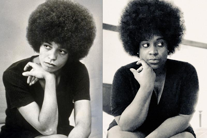 Staci Childs transformed into activist and author Angela Davis to honor her