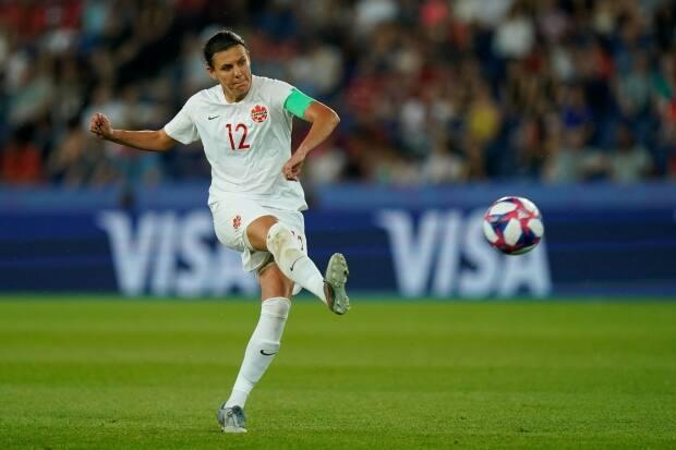 Canadian forward Christine Sinclair will make her return to the national team in April after missing the SheBelieves Cup due to injury in February. (Kenzo Tribouillard/AFP via Getty Images - image credit)