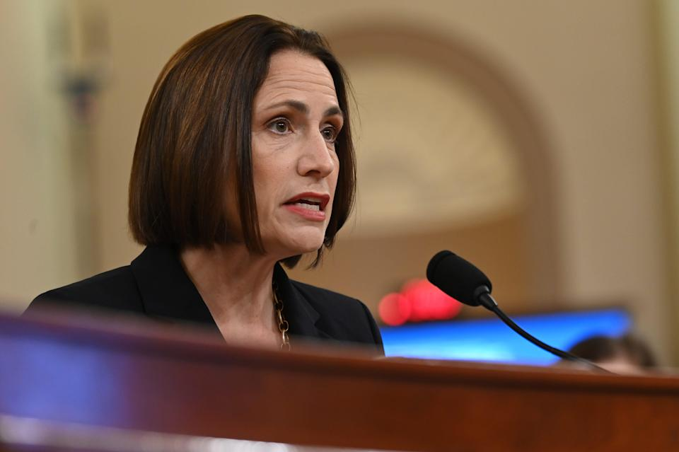 National Security Council official Fiona Hill  testifies before the Permanent Select Committee on Intelligence on Nov. 21, 2019 in a public hearing in the impeachment inquiry into allegations President Donald Trump pressured Ukraine to investigate his political rivals.