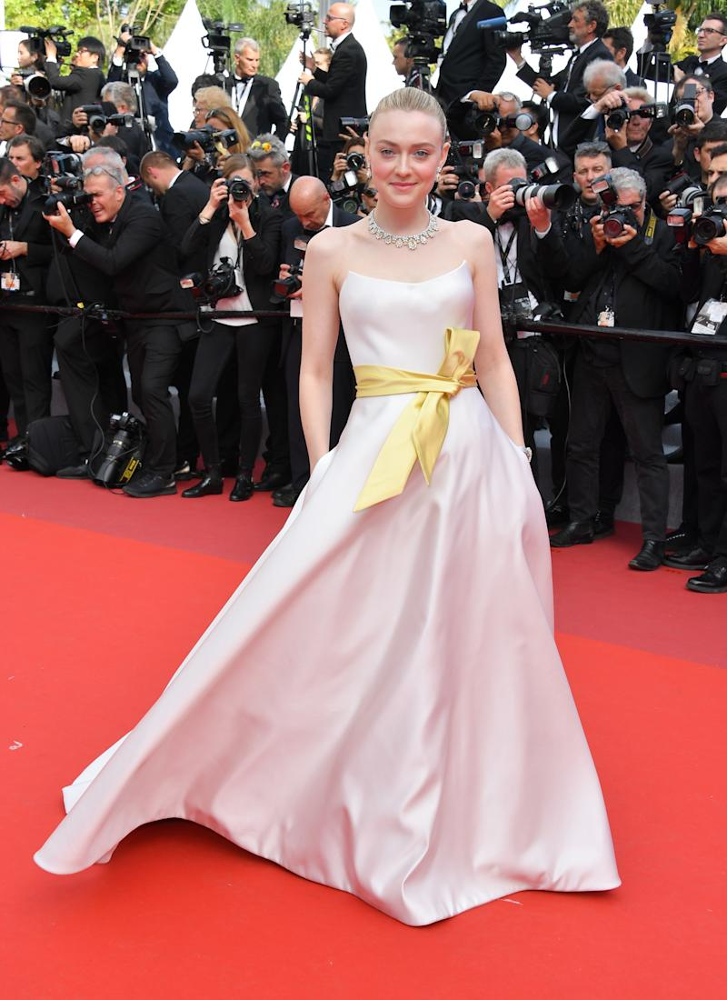 "Dakota Fanning at the ""Once Upon A Time... In Hollywood"" premiere at Cannes."