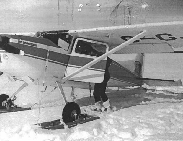 This Cessna 185 was flying between Fox Creek, Alta., and Prince George, B.C., when it crashed 39 years ago. (RCMP - image credit)
