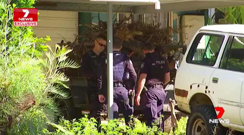 Police arrive at the scene to investigate the allegations. Source: 7 News