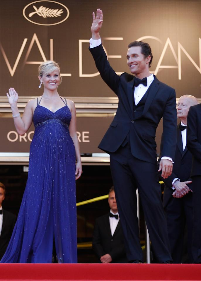 CANNES, FRANCE - MAY 26:  Actors Reese Witherspoon and Matthew McConaughey  attend the 'Mud' Premiere during the 65th Annual Cannes Film Festival at Palais des Festivals on May 26, 2012 in Cannes, France.  (Photo by Andreas Rentz/Getty Images)