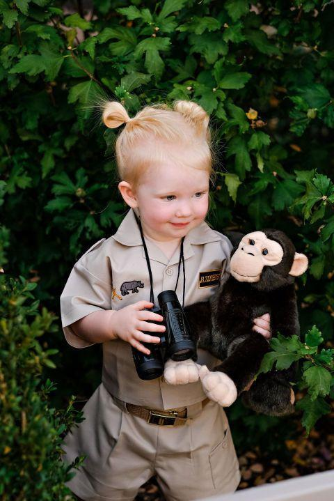 """<p>Your future animal rights activist will go bananas for this costume.</p><p><strong>Get the tutorial at <a href=""""https://www.smarties.com/littlesmarties/janegoodall/"""" rel=""""nofollow noopener"""" target=""""_blank"""" data-ylk=""""slk:Smarties"""" class=""""link rapid-noclick-resp"""">Smarties</a>.</strong></p><p><strong><a class=""""link rapid-noclick-resp"""" href=""""https://www.amazon.com/Binoculars-Telescope-Children-Christmas-Thanksgiving/dp/B07C9G8TP6/?tag=syn-yahoo-20&ascsubtag=%5Bartid%7C10050.g.4975%5Bsrc%7Cyahoo-us"""" rel=""""nofollow noopener"""" target=""""_blank"""" data-ylk=""""slk:SHOP BINOCULARS"""">SHOP BINOCULARS</a></strong></p>"""