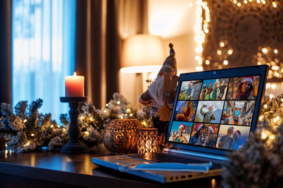 Virtual holiday gatherings may be in the cards this year, depending on weather, location and more, according to new CDC holiday guidelines. (Photo: Getty Images)