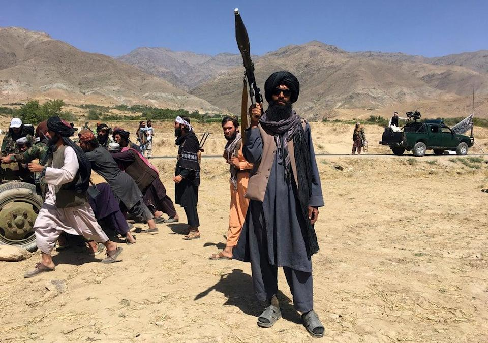 Taliban soldiers in Panjshir province in northeast of Afghanistan on 8 September (Copyright 2021 The Associated Press. All rights reserved.)