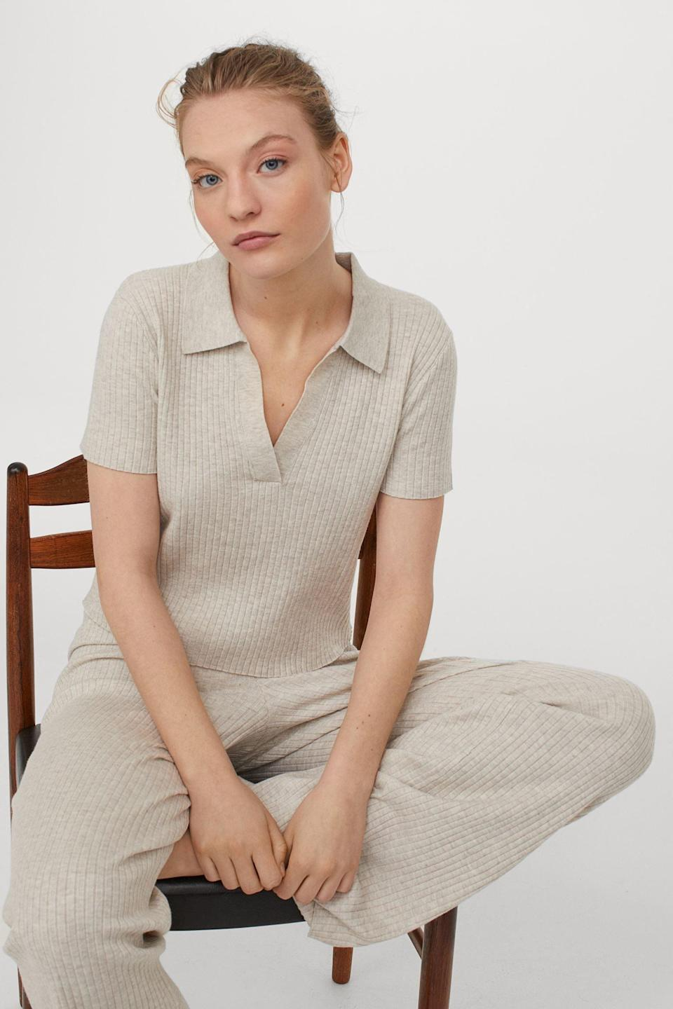<p>This <span>Collared Ribbed Top</span> ($25) is a casual yet polished pick for all your daytime outings.</p>
