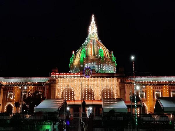 UP Vidhan Bhawan decked up for Independence Day celebrations. [Photo/ANI]