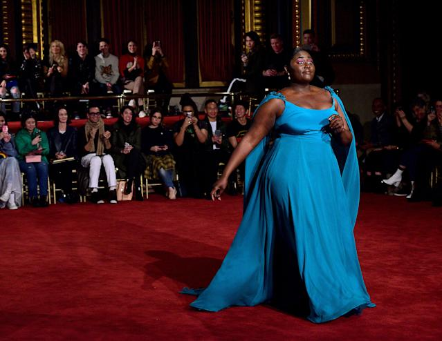 Danielle Brooks walks the runway for Christian Siriano during New York Fashion Week on Feb. 10. (Photo: Getty Images)
