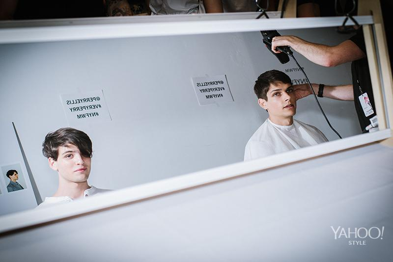 <p>Perry Ellis Spring Summer 2016</p><p>Mirror, mirror on the wall, who's the most handsomest of them all?</p>