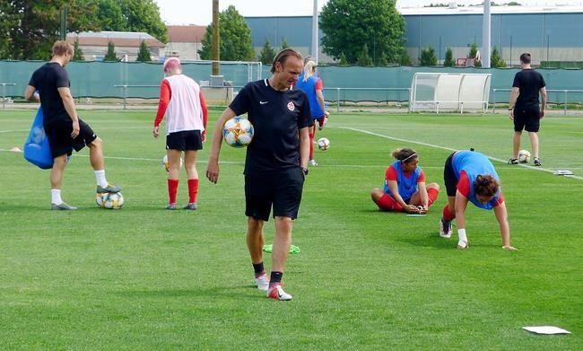 Former Canada coach Kenneth Heiner-Moller on the job in his native Denmark