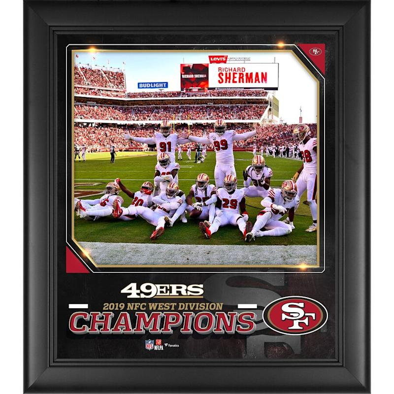 49ers Framed 2019 NFC West Division Champions Collage