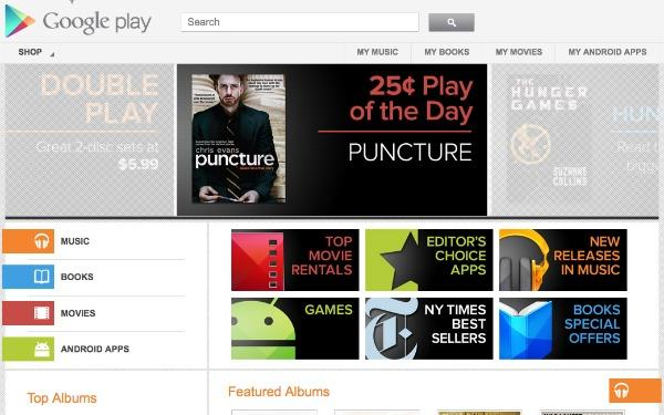 Google Play Takes on iTunes With New Gift Cards