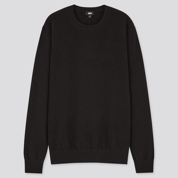 "<br><br><strong>Uniqlo</strong> Men's 100% Cashmere Crew Neck Jumper, $, available at <a href=""https://www.uniqlo.com/uk/en/product/men-100pct-cashmere-crew-neck-jumper-429075.html?dwvar_429075_color=COL09&dwvar_429075_size=SMA002"" rel=""nofollow noopener"" target=""_blank"" data-ylk=""slk:Uniqlo"" class=""link rapid-noclick-resp"">Uniqlo</a>"