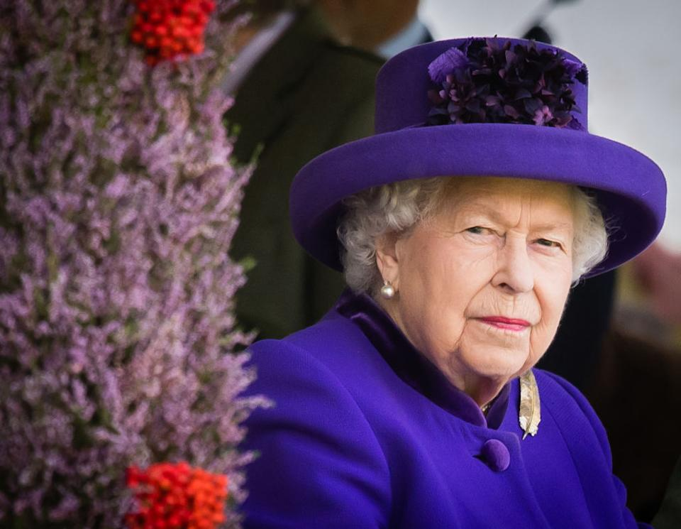 BRAEMAR, SCOTLAND - SEPTEMBER 07: Queen Elizabeth II attends the 2019 Braemar Highland Games  on September 07, 2019 in Braemar, Scotland. (Photo by Samir Hussein/WireImage)