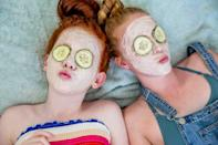 "<p>Teens dig spa parties. It makes them feel adult and pampered - hello, sheet masks and pedicures. Step it up a notch and provide cucumber slices for their eyes while they lounge about. You can hand out slippers or nail polishes as party favors. Why not dedicate some time to a <a class=""link rapid-noclick-resp"" href=""https://www.popsugar.com/DIY"" rel=""nofollow noopener"" target=""_blank"" data-ylk=""slk:DIY"">DIY</a> and make a sugar scrub or bath bombs?</p>"