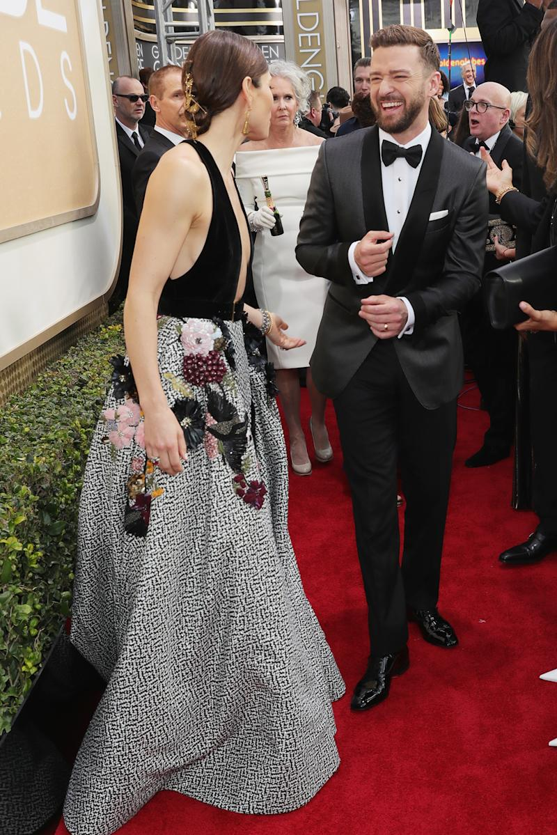 JT Can't Stop Looking at Jessica Biel