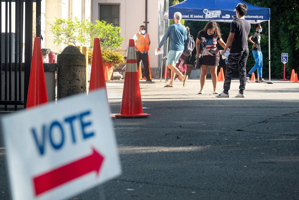 A polling station in Florida (EPA)