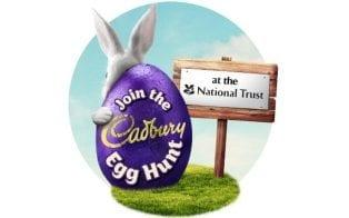Cadbury's new Egg Hunt logo, which does not mention Easter  - Cadbury