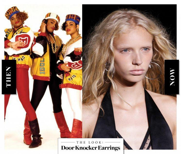 Door Knocker Earrings as seen on Salt N Pepa  in the '80s, and at Alexander Wang today. (Photo: Getty Images)