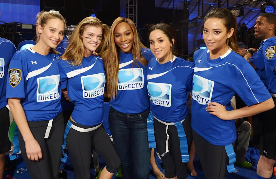 Serena and Meghan participated in the DirecTV Beach Bowl in New York in 2014 (Getty)